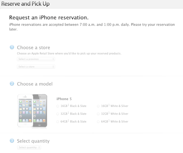 apple.ca iphone 5 reservation