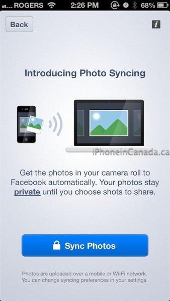 facebook photo sync