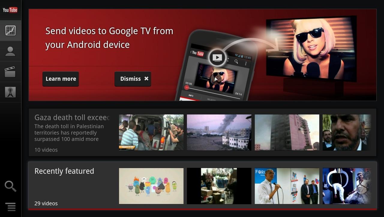 Google tv second screen prompt