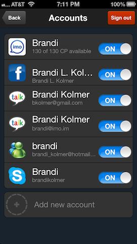 Imo iphone accounts