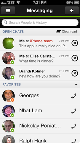 Imo iphone messaging
