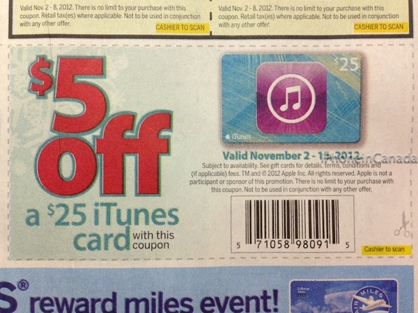 Itunes coupon