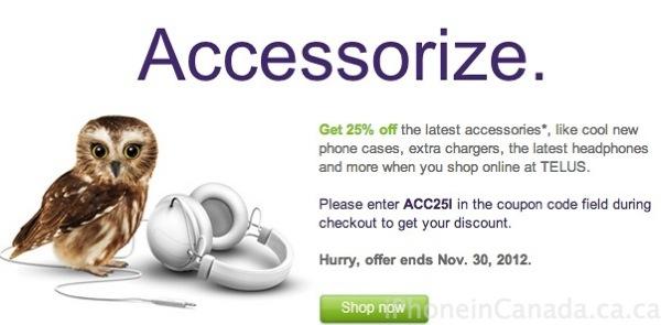 telus accessories promo