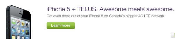 telus iphone 5 sale