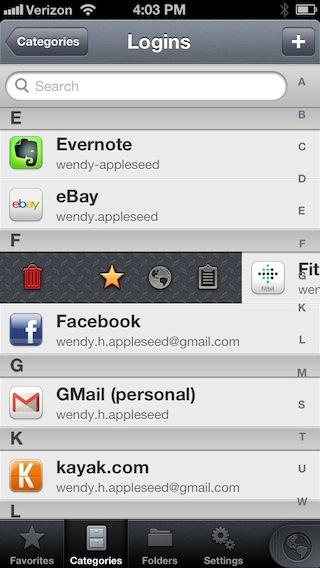 1P4 iPhone Action Bar