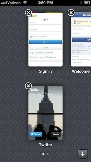1P4 iPhone web tabs