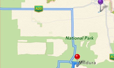 Apple maps Mildura 009
