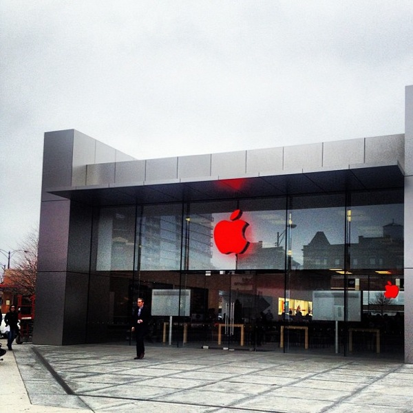 Chicago red apple store