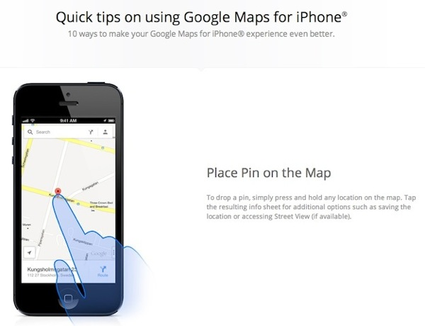 google maps ios tips