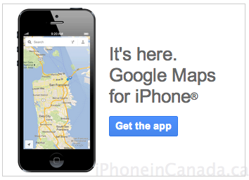 google maps iphone ad