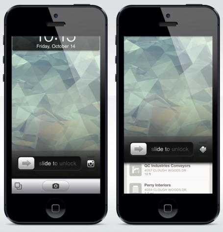 iOS 6 lockscreen