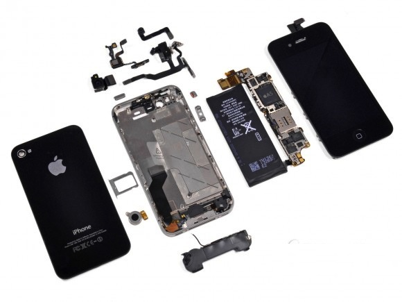 Iphone 4s teardown 580x435