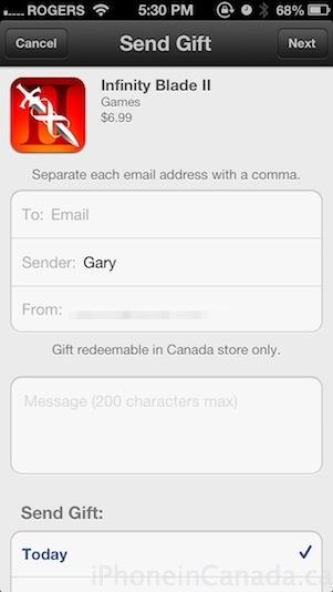 send gift
