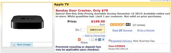 staples apple tv sale