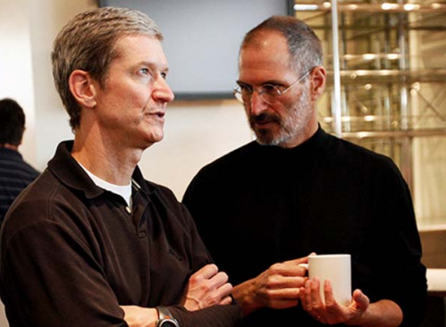 Steve Jobs & Tim Cook