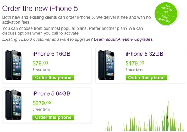 telus iphone 5