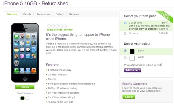 telus refurbished iphone 5