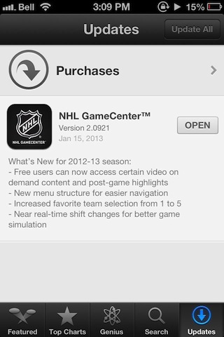 nhl game center 2013