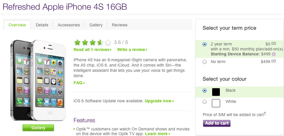iphone 4s telus 2 year terms