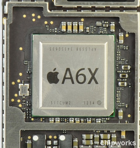 Apple A6X chip iPad 4