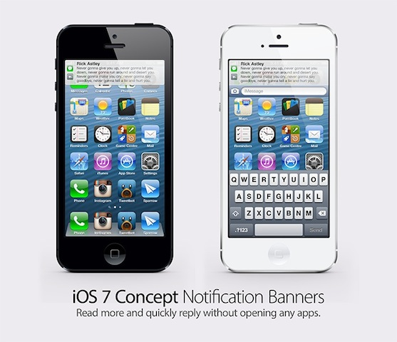 Ios 7 concept notification banner2