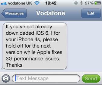 Vodafone ios 6 1