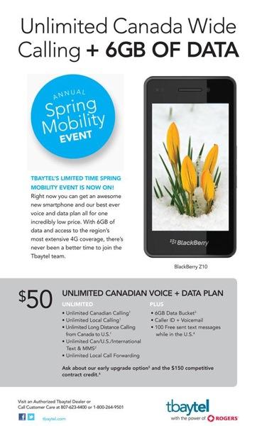Tbaytel Spring Mobility Splash
