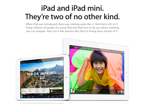 "Apple Launches ""Why You'll Love an iPad"" Page on its Website"