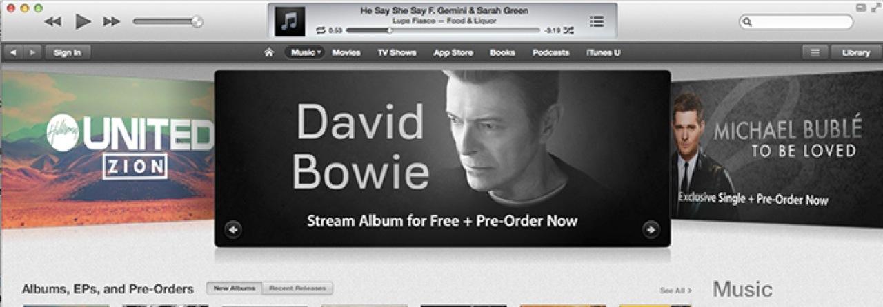 Bowie itunes 130301