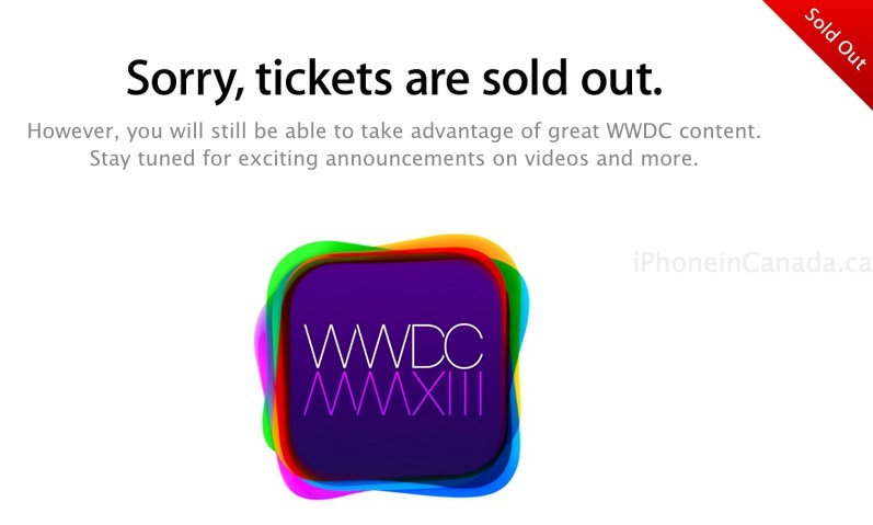 wwdc 2013 tickets sold out