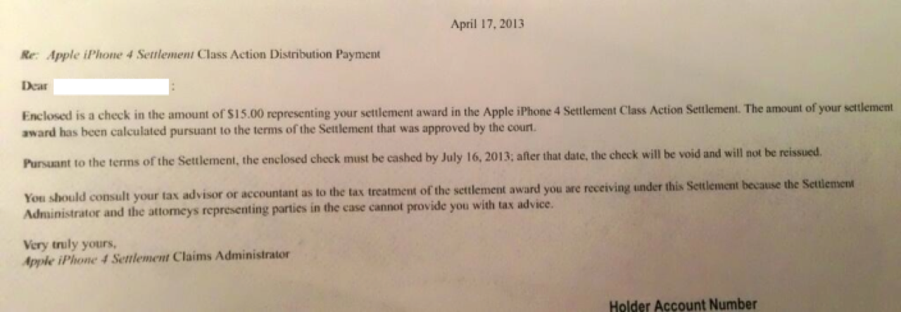 Check iphone 4 settlement