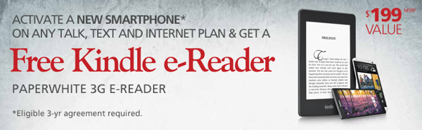 Rogers Offer: Sign a New 3 year Plan, Get a Free Kindle