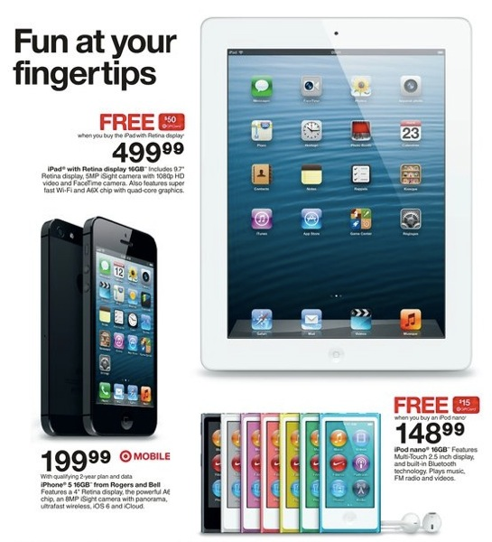 Target Canada: IPad 4 For $499 With $50 Gift Card; Typo