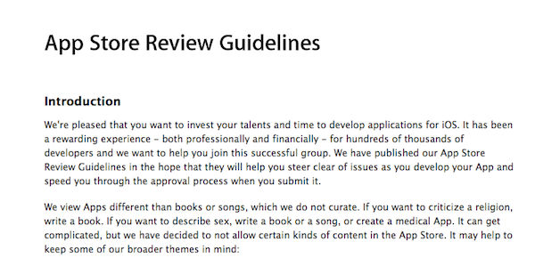 App-Store-Review-guidelines