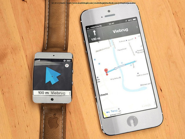 This Concept Shows Off 'iWatch' Maps Integration with the iPhone [PICS]