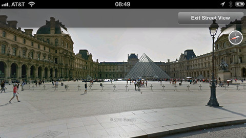 Google Earth for iOS Updated with Street View, New Side Nav Panel