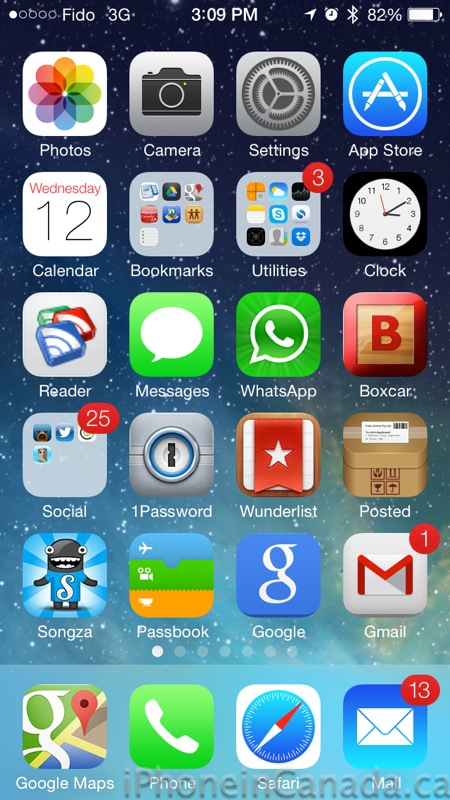 iOS 7-beta 1