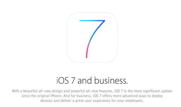 iOS 7-business