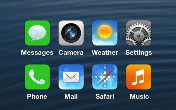 IOS 7 icons mockup