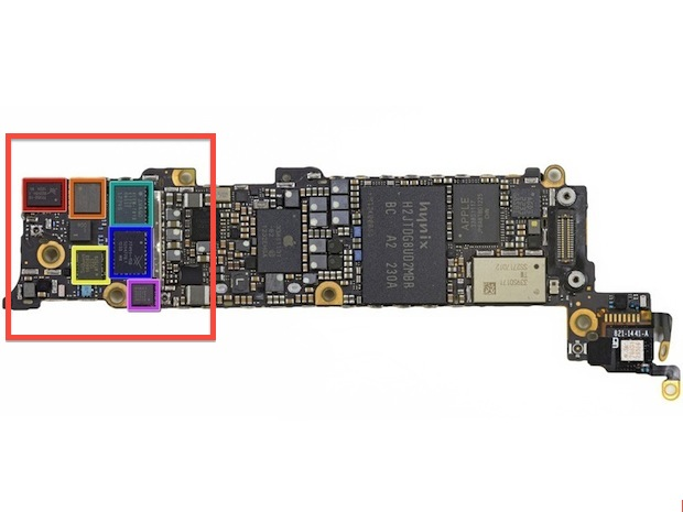 iPhone 5 logic board (Image courtesy of iFixit)