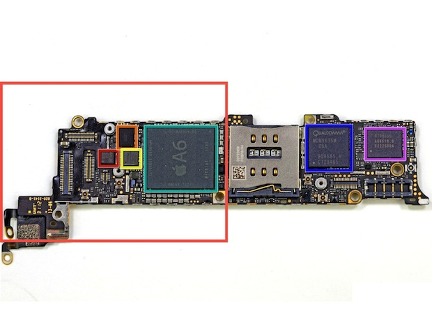 iPhone 5 logic board (image courtesy of iFxit)