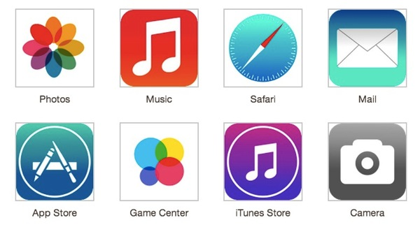 Ios 7 Leak Results In Mockups Of Flat Icons Homescreen Pics