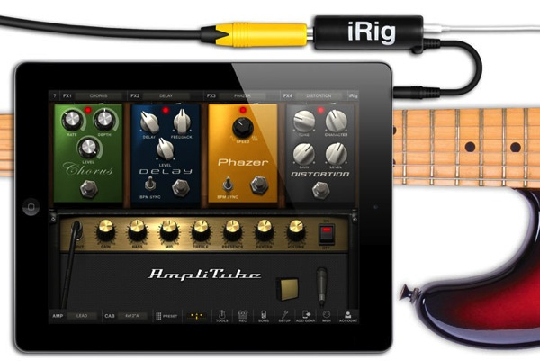 Ipad front irig amplitube2 5