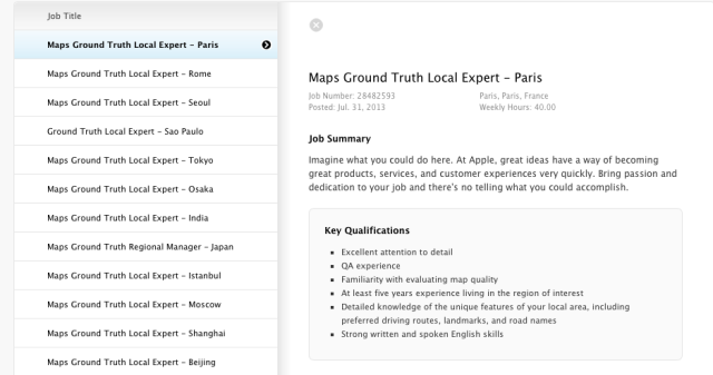 Apple-job-listing