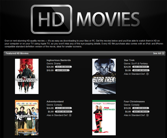 Apple hd movies