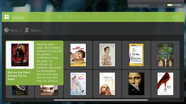 Boxee video browsing screenshot