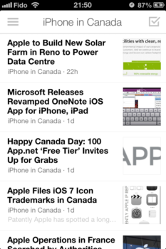A clean view of the latest Apple news