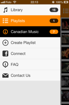 You can make playlists, and share the music your listen to on Facebook