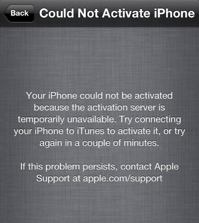 Iphone activation down
