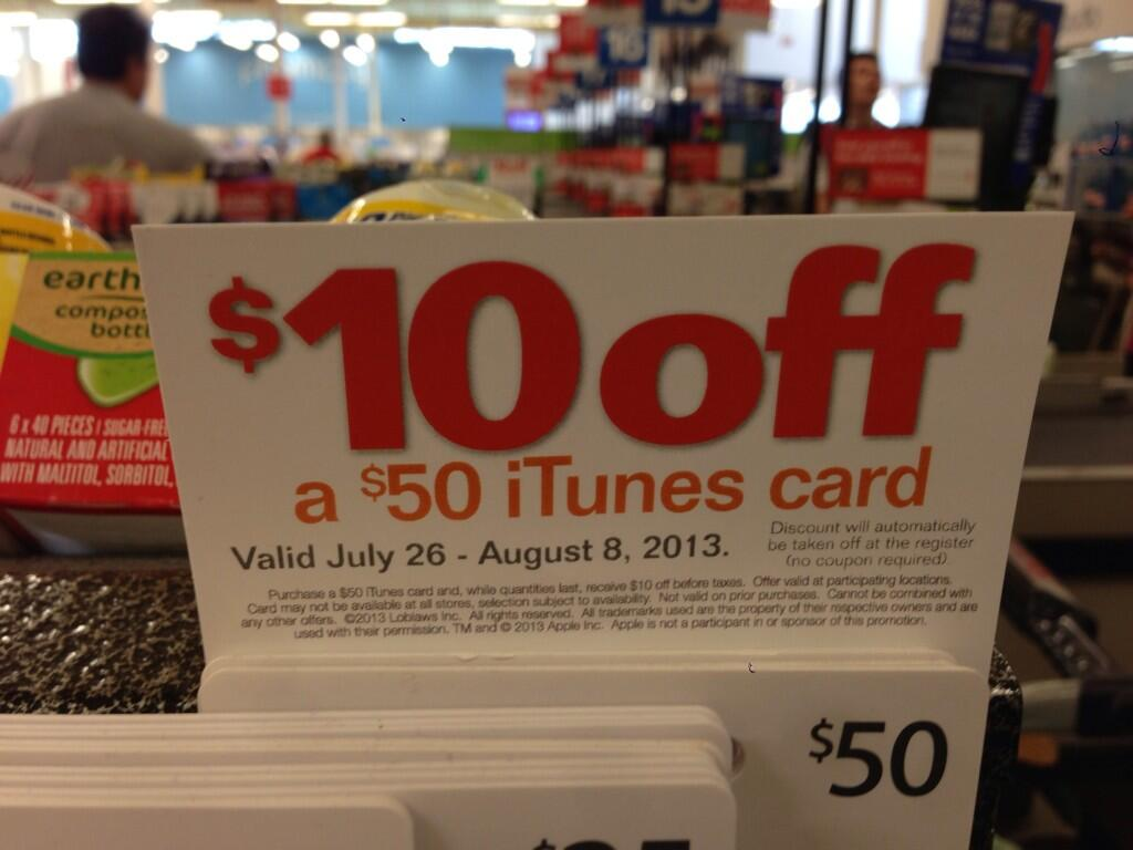 superstore itunes card sale